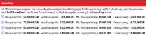 Bausparkasse Mainz mit Einmalbetrag