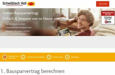 Online Bauspar Rechner der Schwäbisch Hall