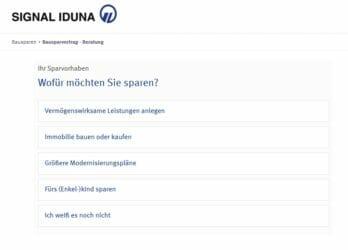 Online Rechner der Signal Iduna Bauspar AG